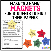 "Do your students forget to put their names on their papers? Make these ""No Name"" magnets to help identify missing work."