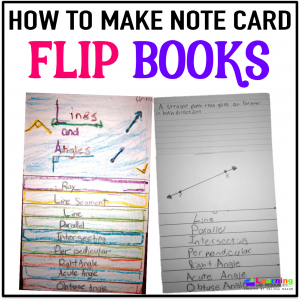 How to use notecards to create flip books with space to write and draw.