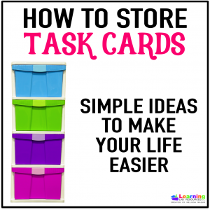 Simple ways to organize your task cards.