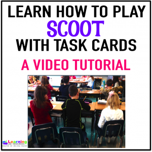 Want a fresh new idea to use with task cards? View this video tutorial on how to play the game, Scoot!