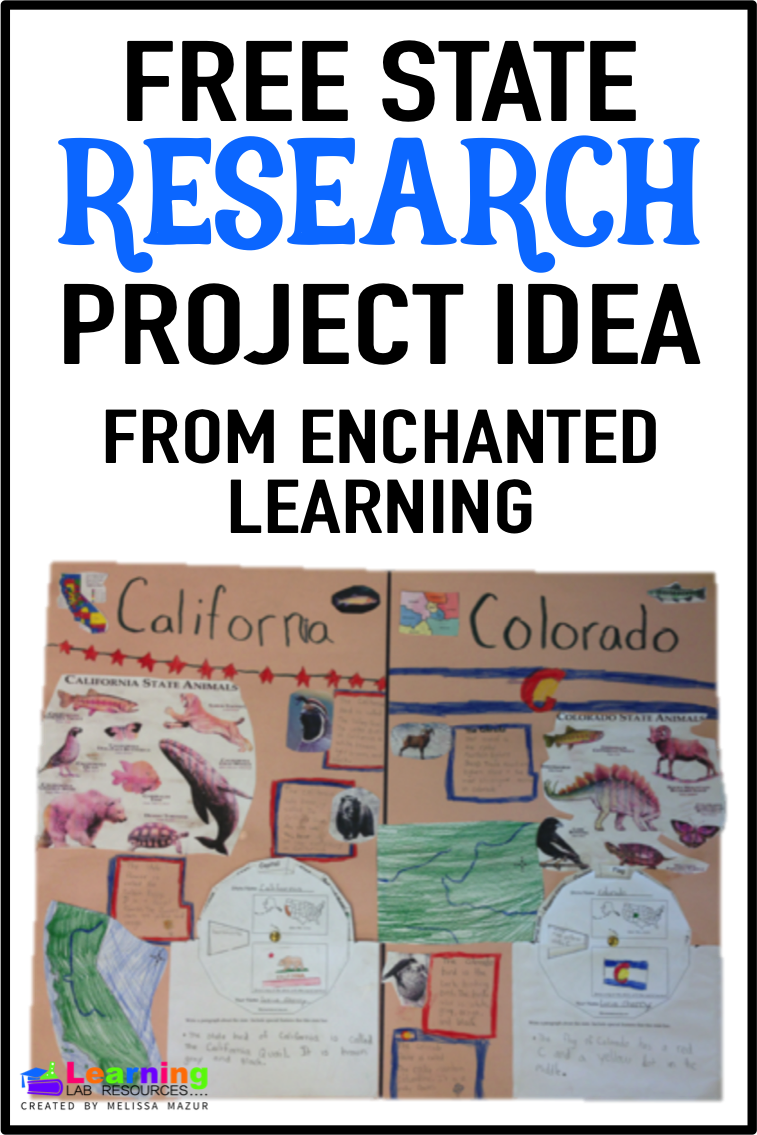 Do you want to do a project that interests your students, but don't have a lot of time to plan? Use these FREE pages from Enchanted Learning to research the 50 states!