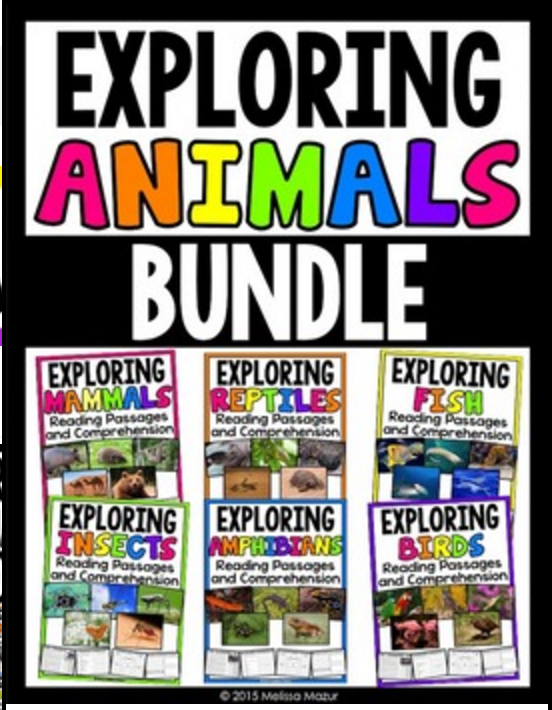Exploring Animals Bundle - 30 passages with comprehension activities