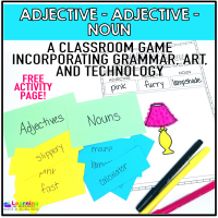 Adjective, Adjective, Verb. Play this fun game with your students and incorporate grammar, art, and technology at the same time!